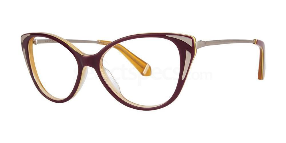 Maroon FAY Glasses, Zac Posen