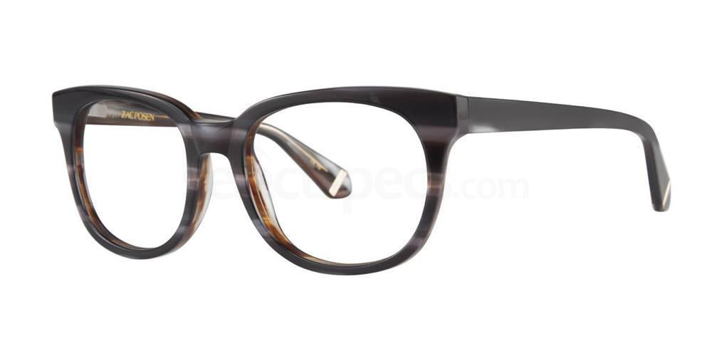 Grey Brown MYRNA Glasses, Zac Posen