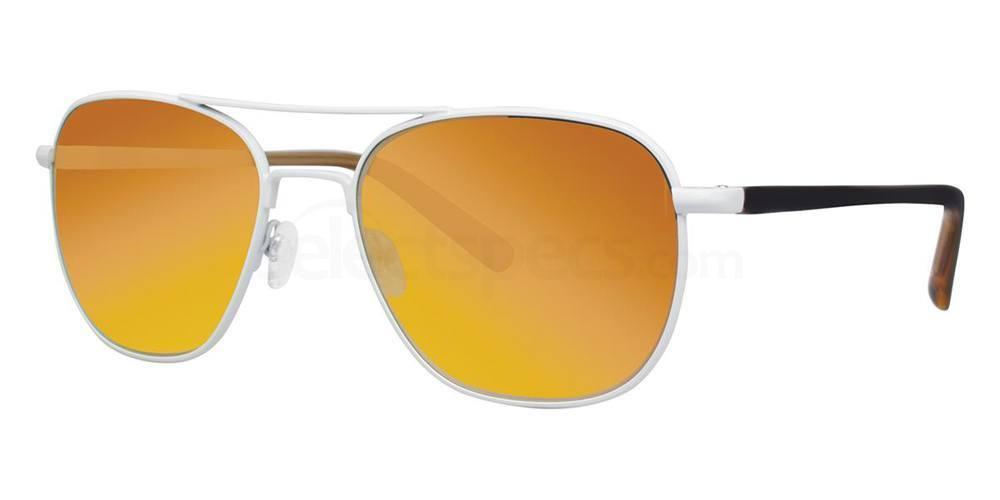 White THE METEOR MIRROR Sunglasses, Original Penguin