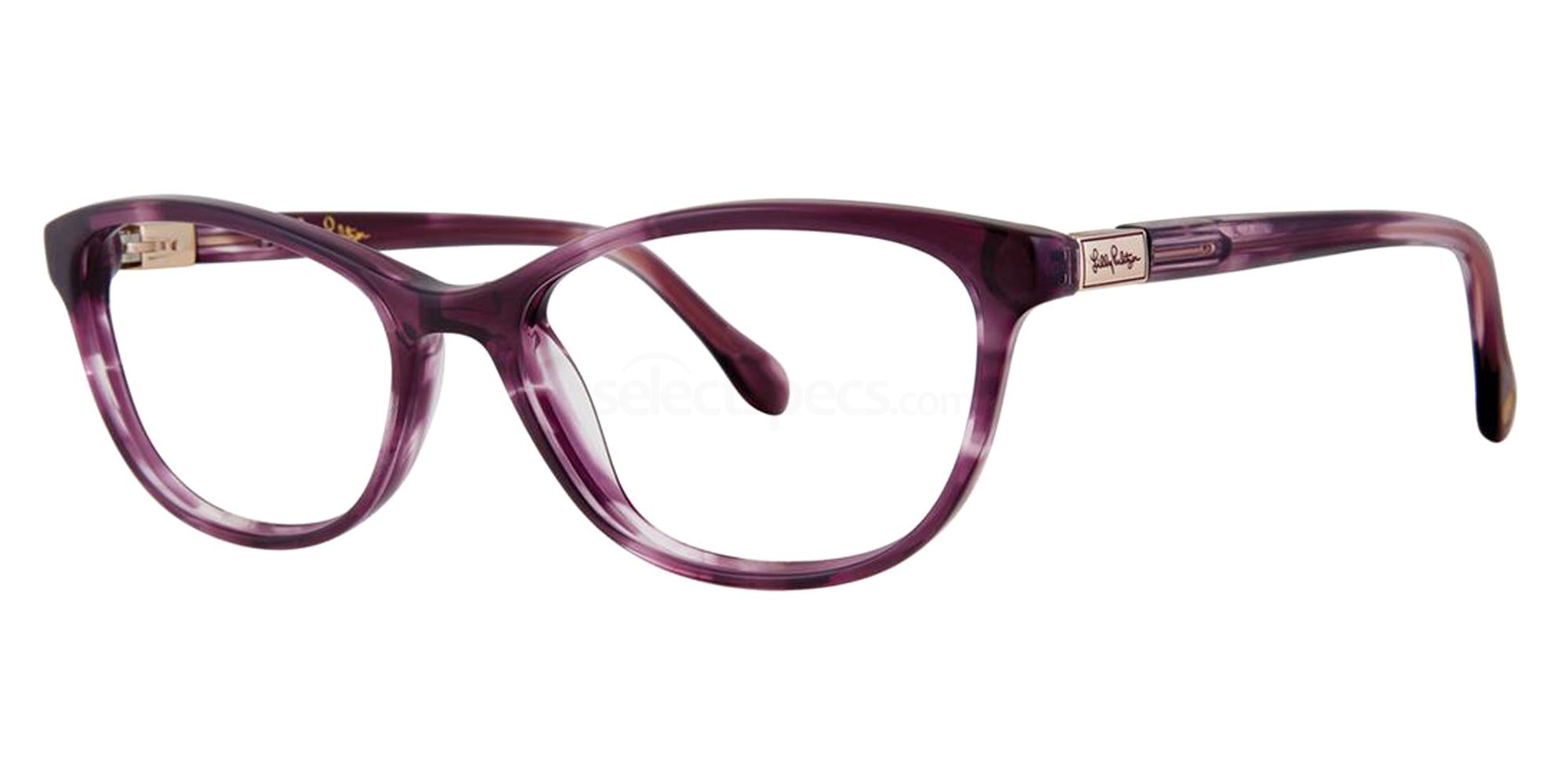 Purple FOSTER Glasses, Lilly Pulitzer
