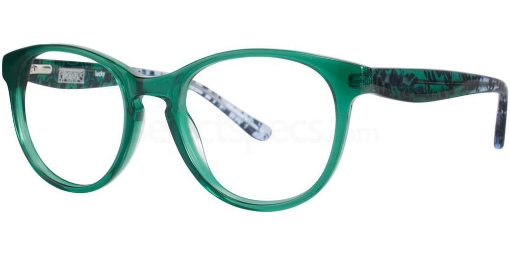green forest leaf print glasses Kensie LUCKY