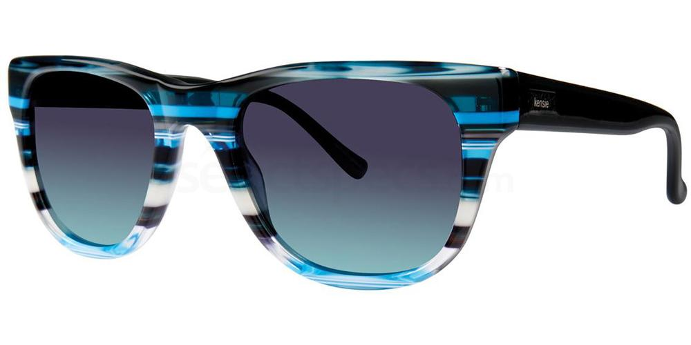 Blue Stripe FOR REAL Sunglasses, Kensie