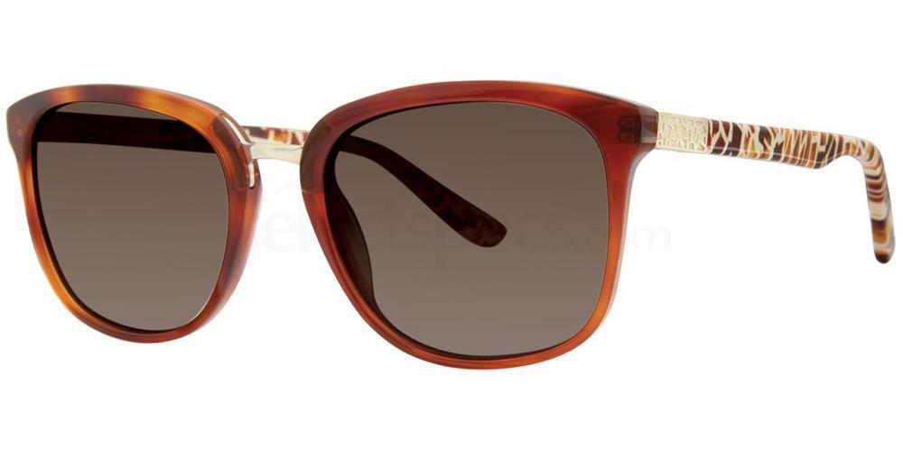 Caramel Feather MAKE ME BLUSH Sunglasses, Kensie