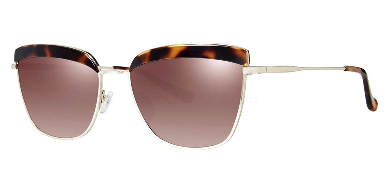 Dark Tortoise (Polarized) HIGH BROW Sunglasses, Kensie