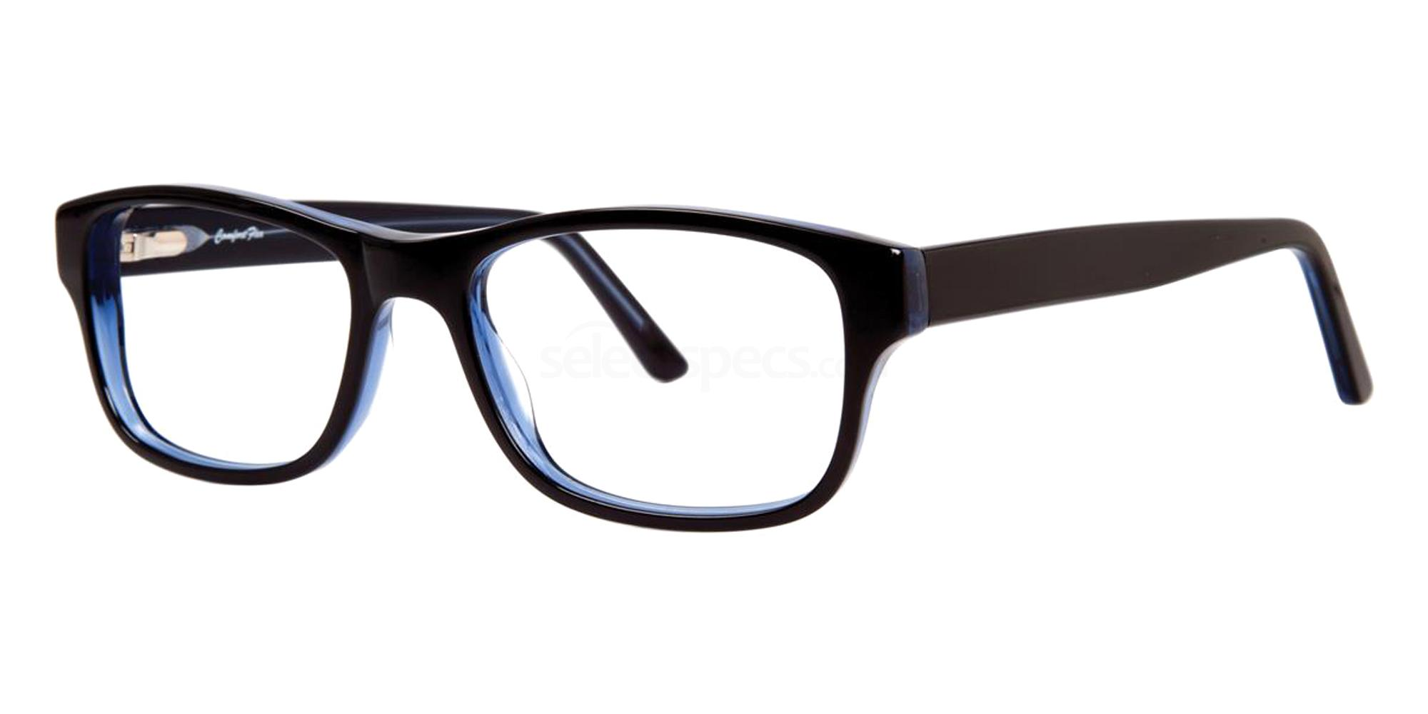 Black/Blue DARIN Glasses, Comfort Flex