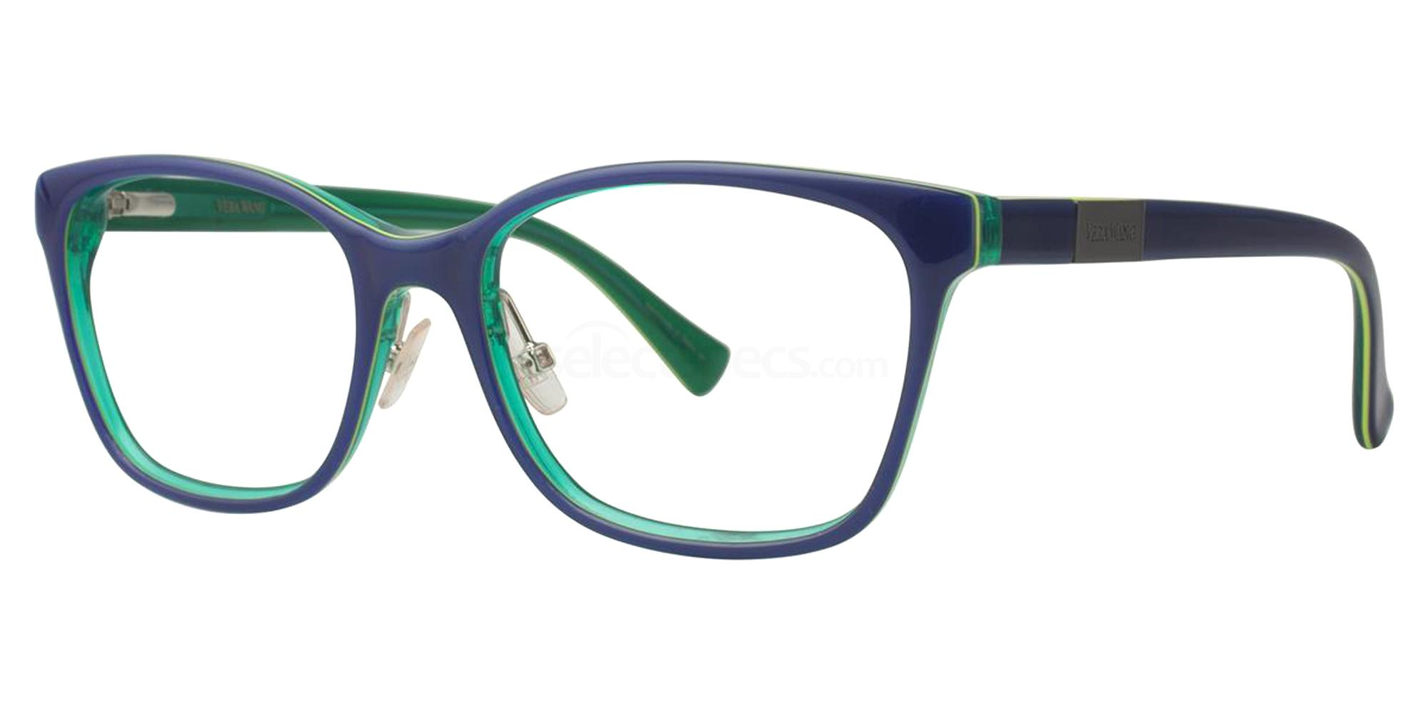 Blue VA14 Glasses, Vera Wang Alternative Fit