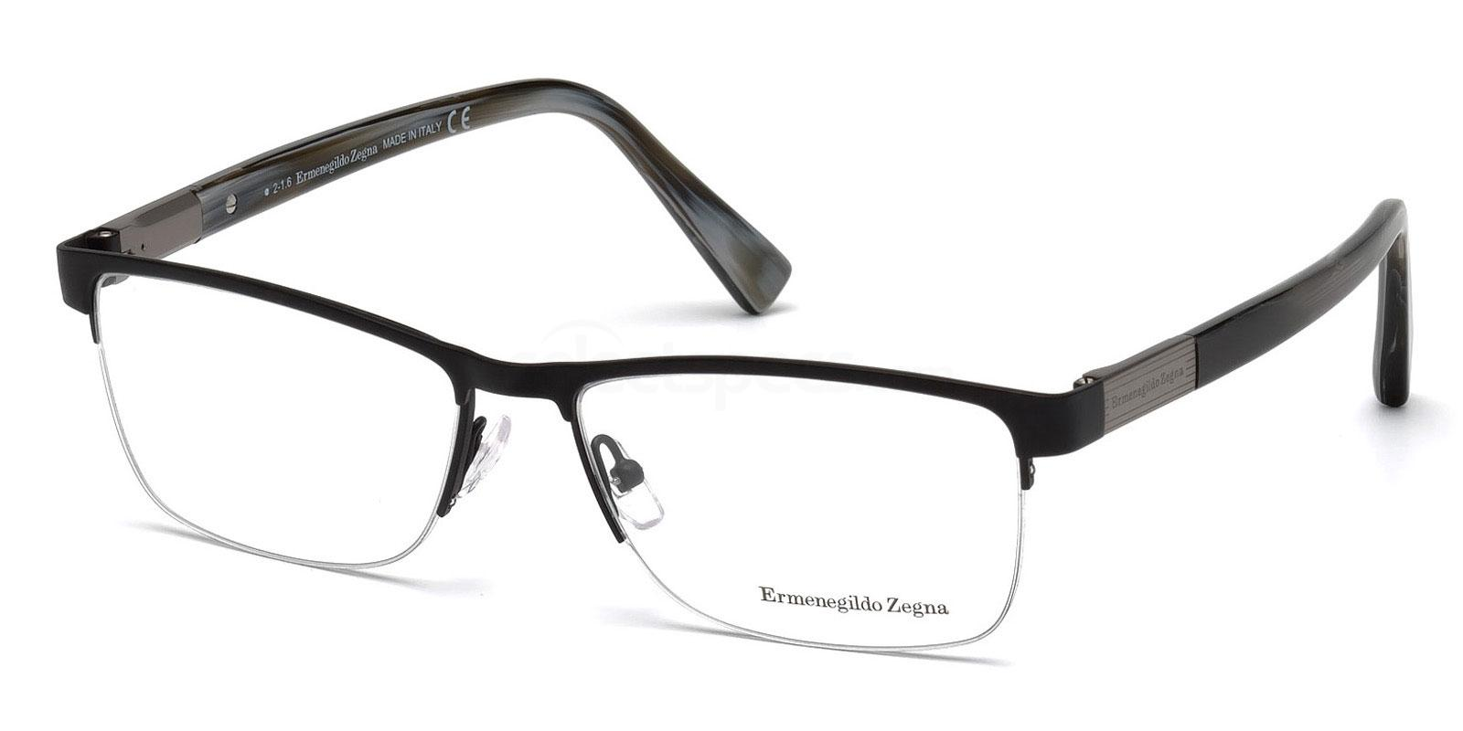 002 EZ5077 Glasses, Ermenegildo Zegna