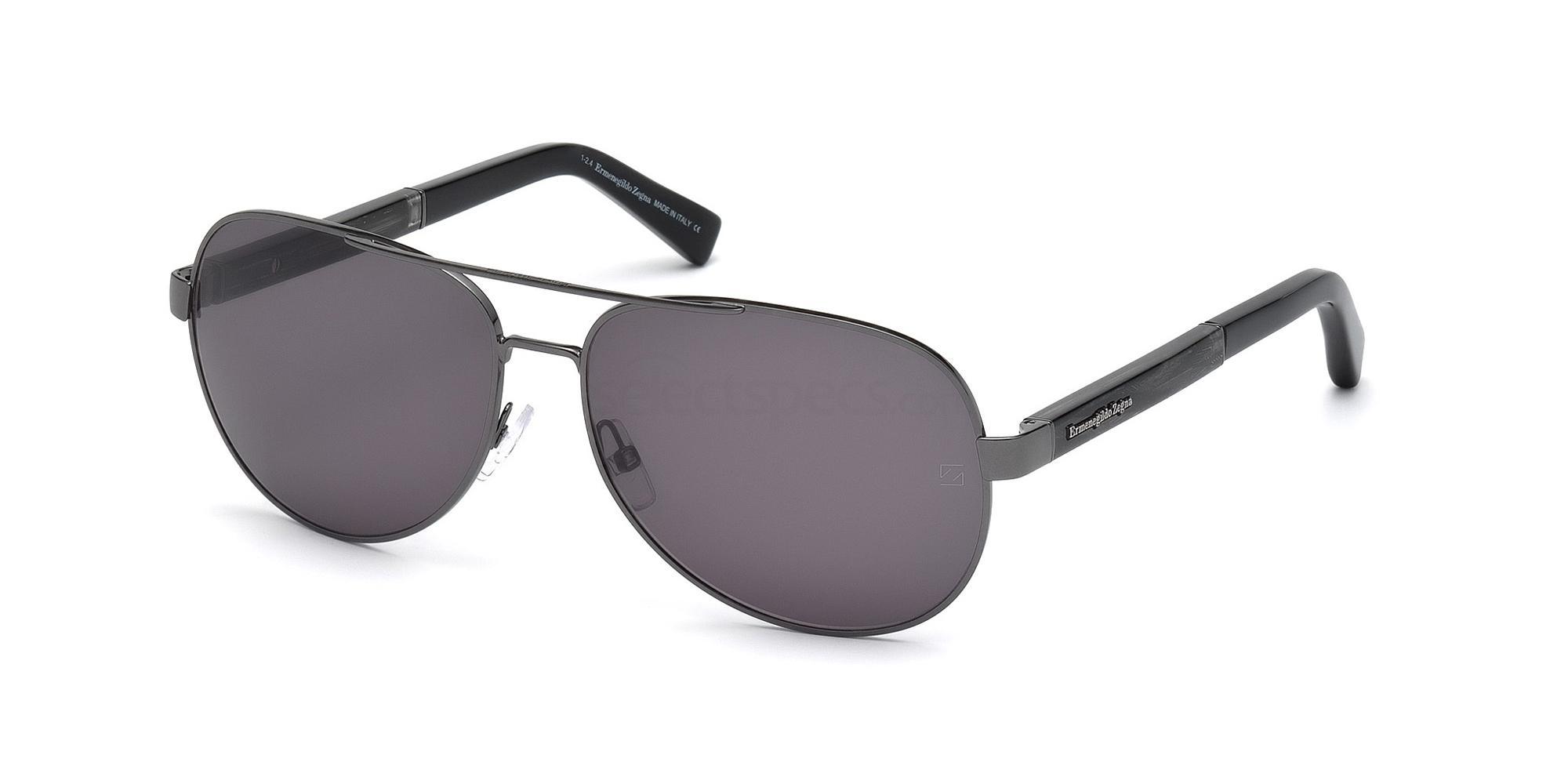 12B EZ0010 Sunglasses, Ermenegildo Zegna