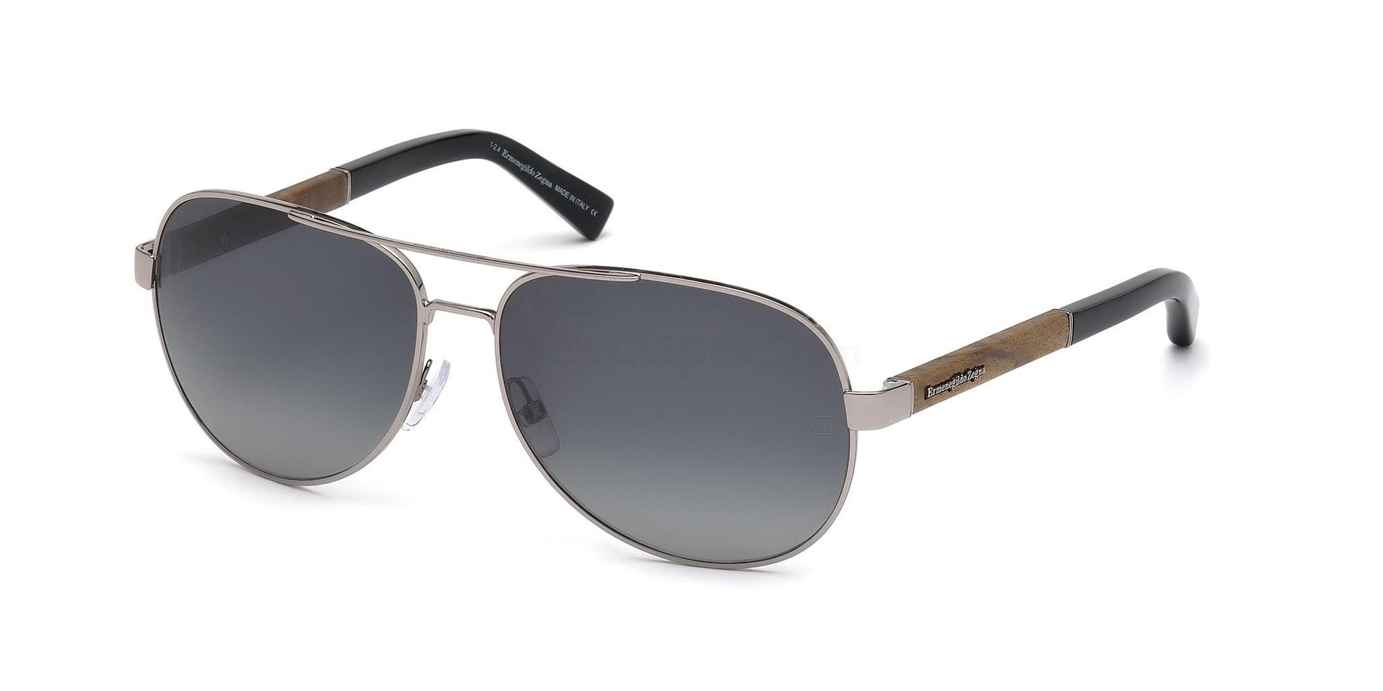 14B EZ0010 Sunglasses, Ermenegildo Zegna