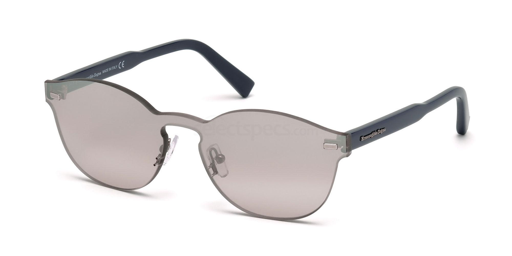 20C EZ0024 Sunglasses, Ermenegildo Zegna