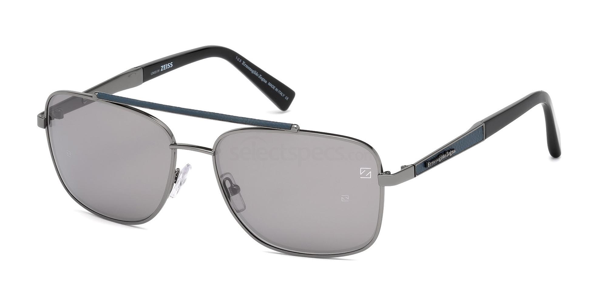 12C EZ0036 Sunglasses, Ermenegildo Zegna