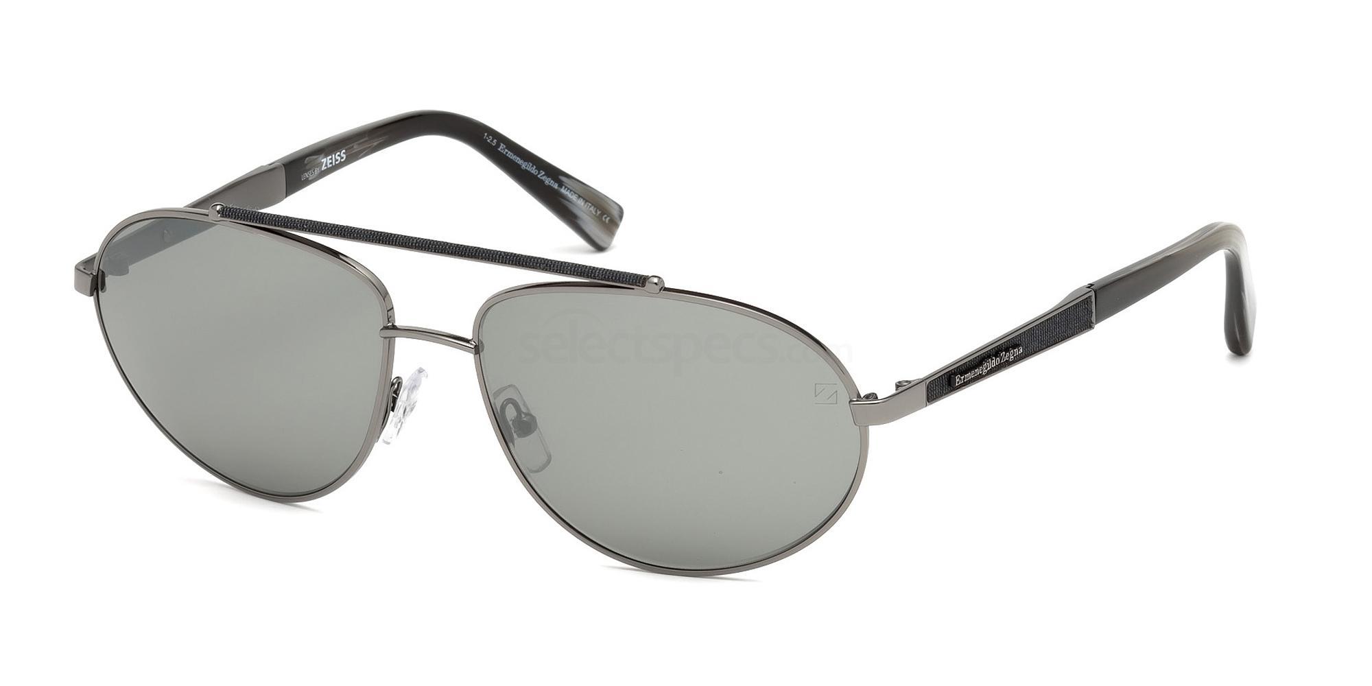 12C EZ0037 Sunglasses, Ermenegildo Zegna