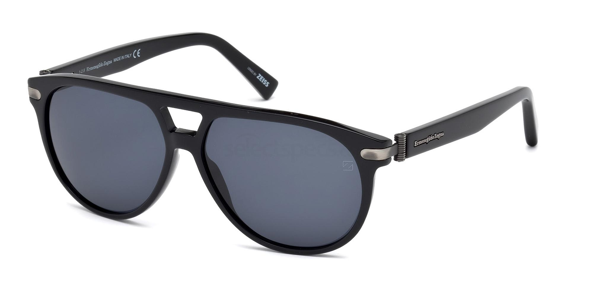 01V EZ0043 Sunglasses, Ermenegildo Zegna