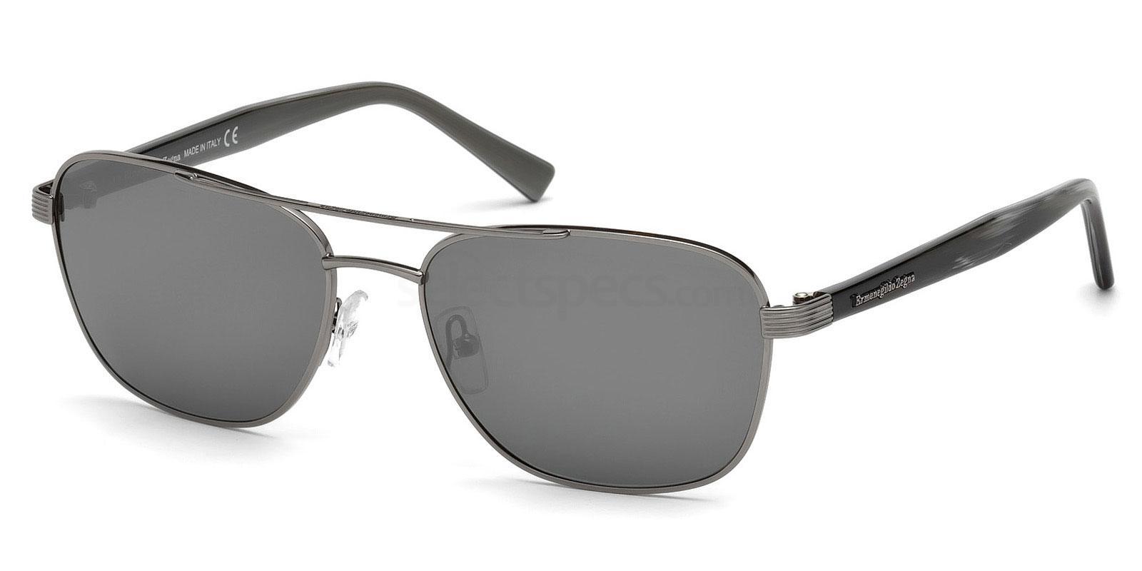 08C EZ0068 Sunglasses, Ermenegildo Zegna
