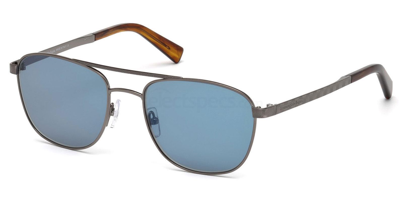 12V EZ0071 Sunglasses, Ermenegildo Zegna