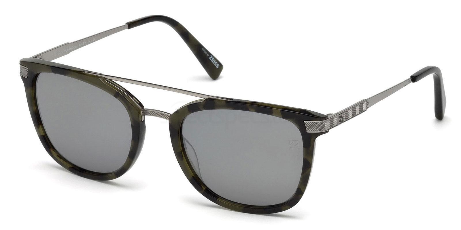 55C EZ0078 Sunglasses, Ermenegildo Zegna