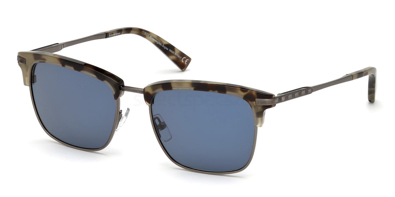 55V EZ0092 Sunglasses, Ermenegildo Zegna