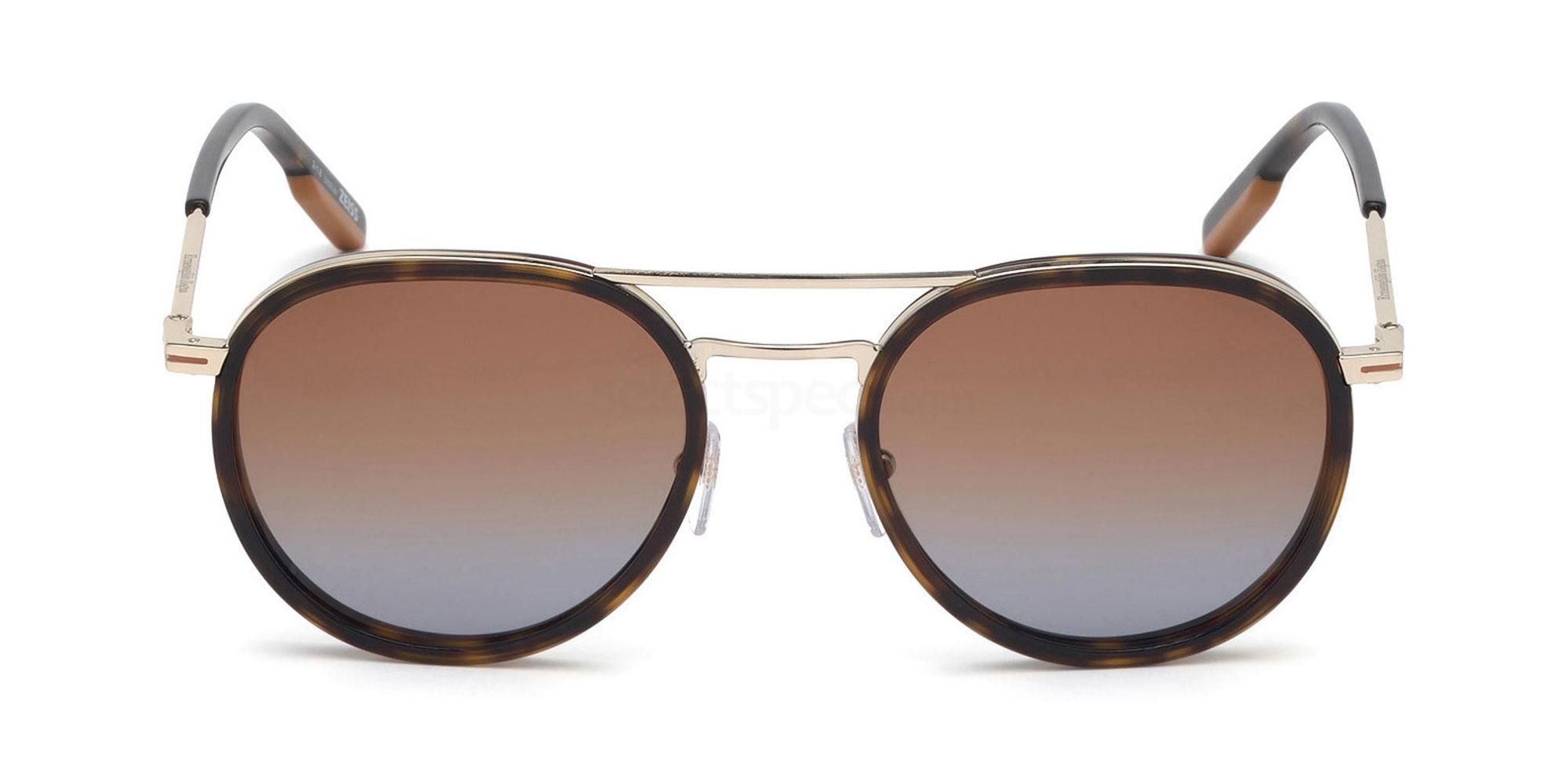 56F EZ0127 Sunglasses, Ermenegildo Zegna