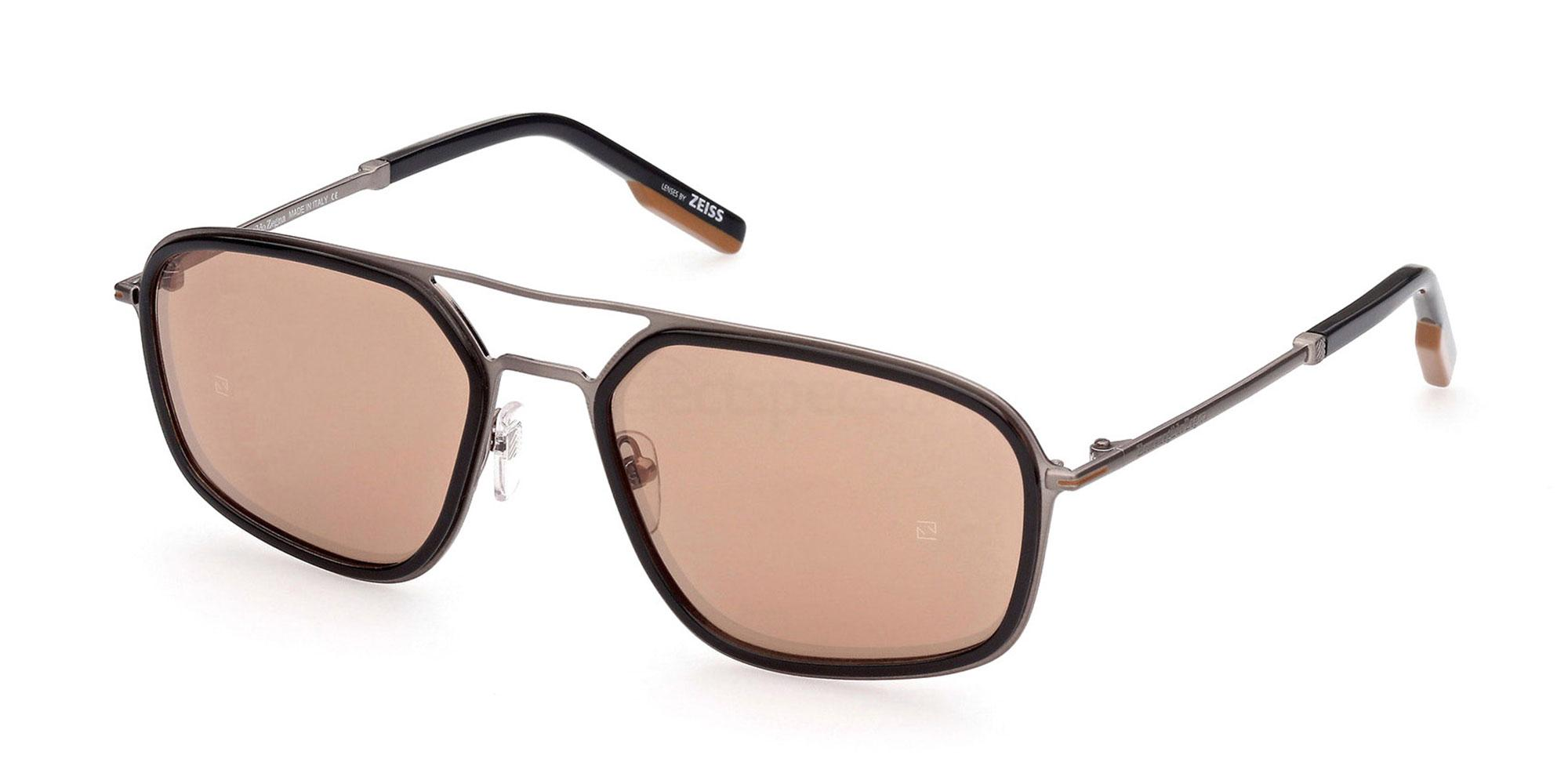12G EZ0163 Sunglasses, Ermenegildo Zegna
