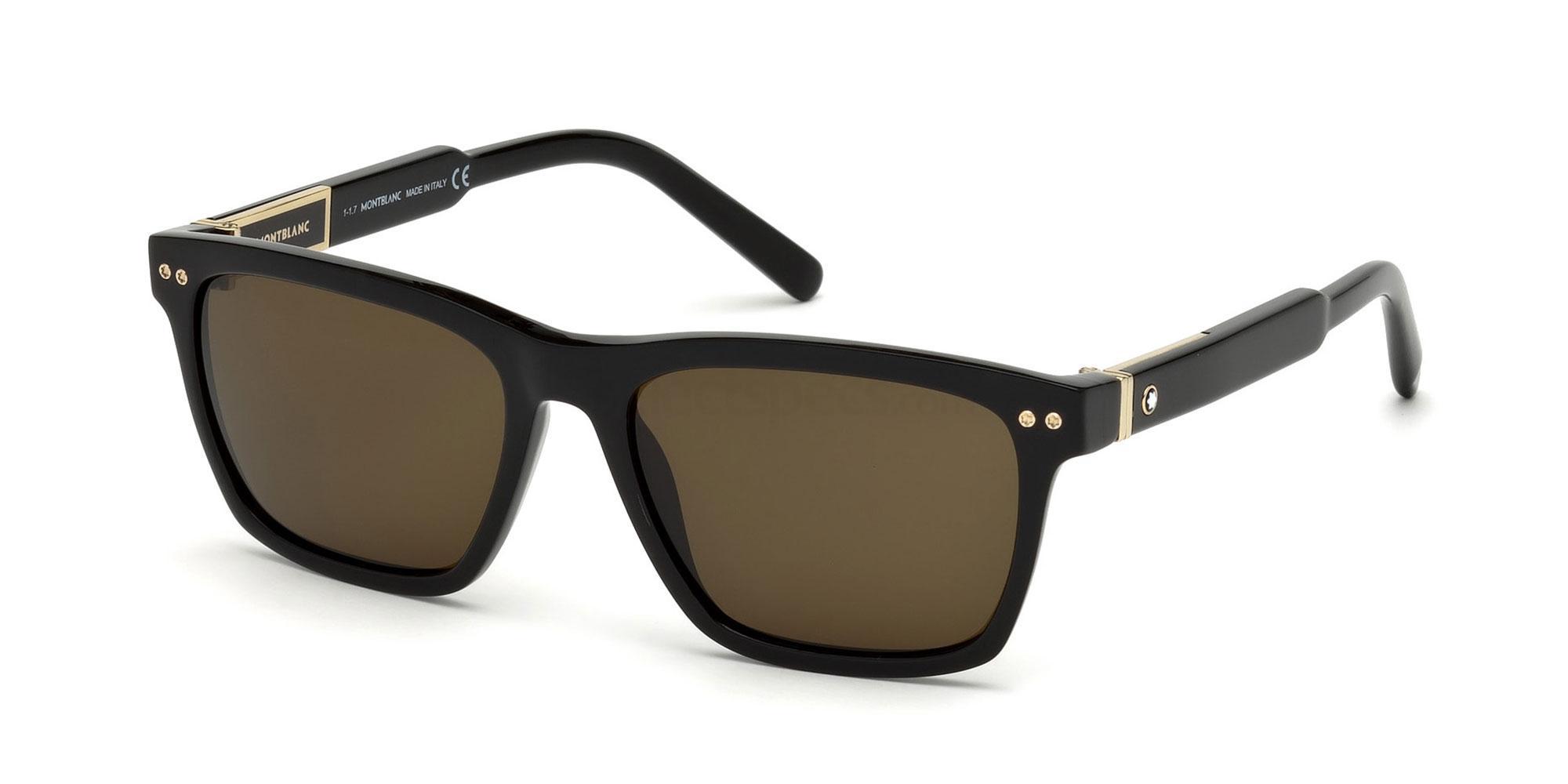 01J MB694S Sunglasses, Mont Blanc