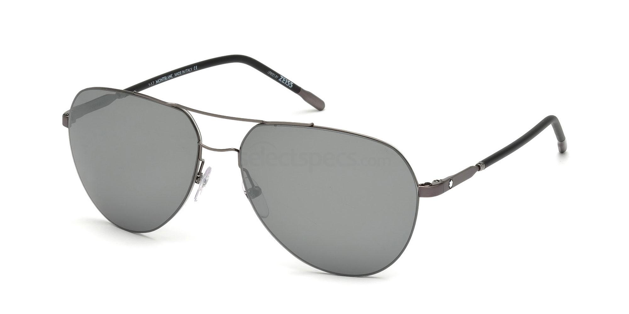 08C MB695S Sunglasses, Mont Blanc
