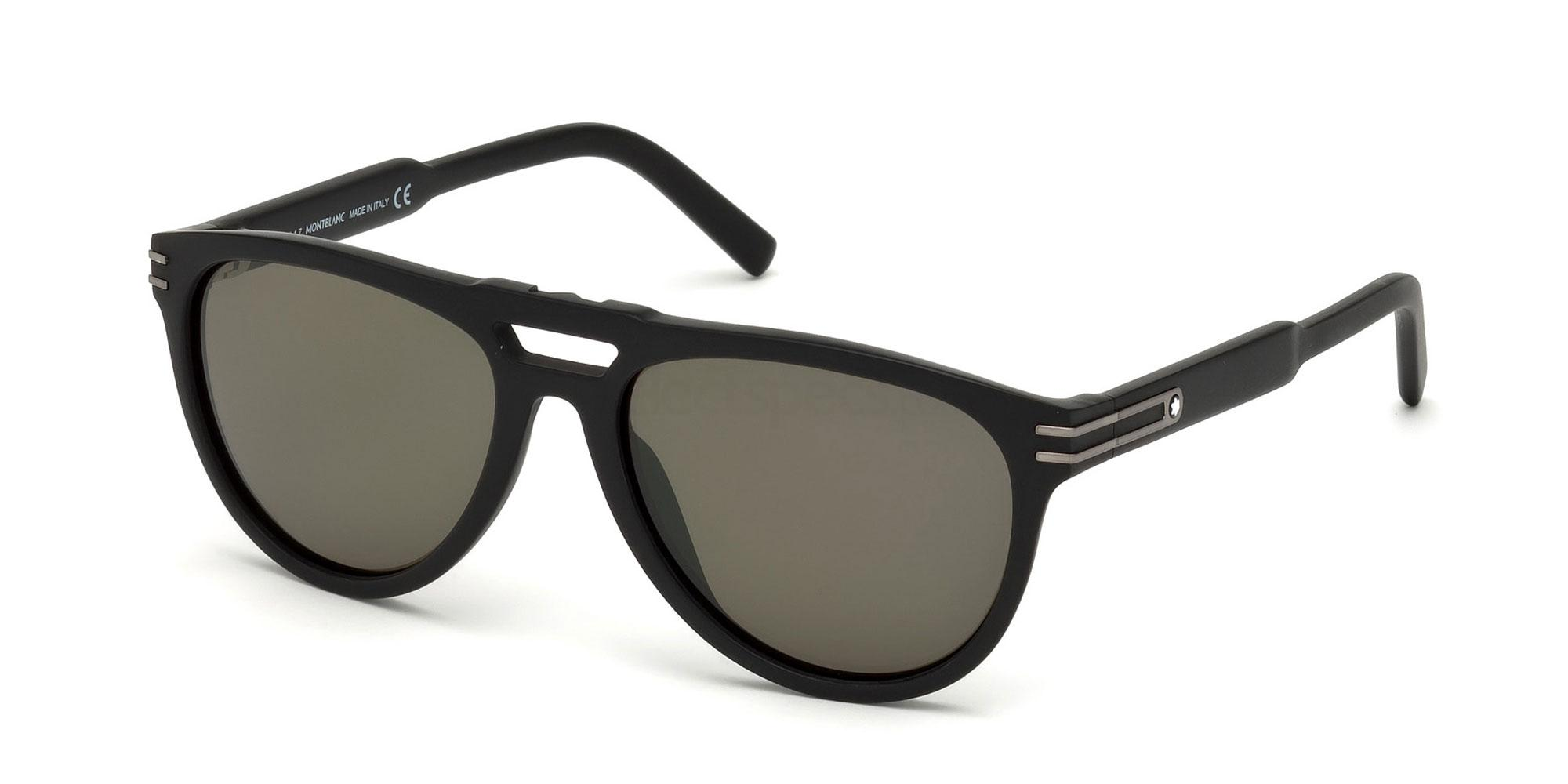 02N MB699S Sunglasses, Mont Blanc