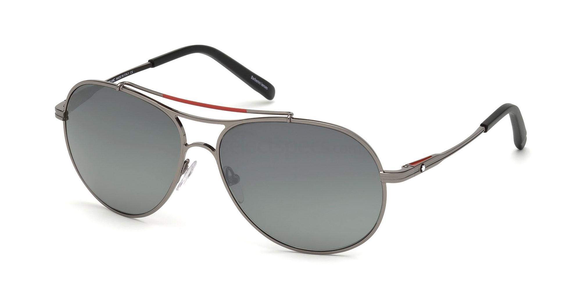 08D MB703S Sunglasses, Mont Blanc