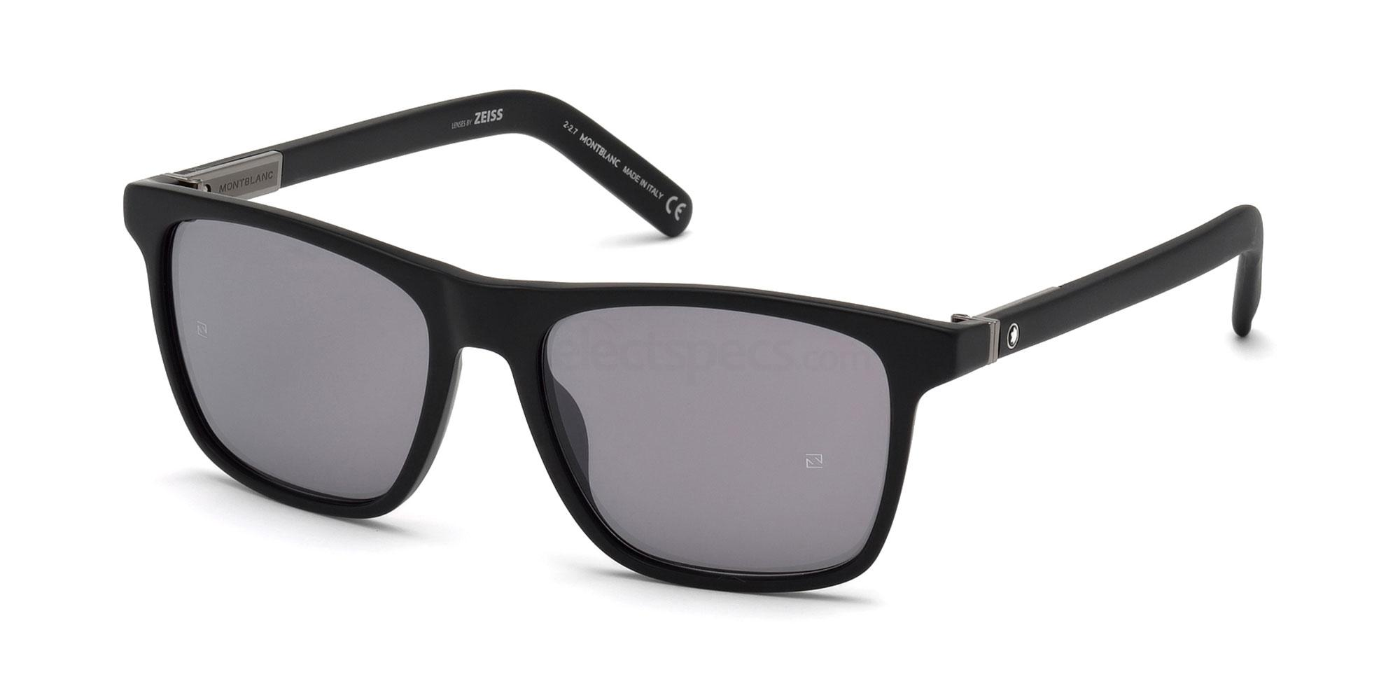 02C MB719S Sunglasses, Mont Blanc