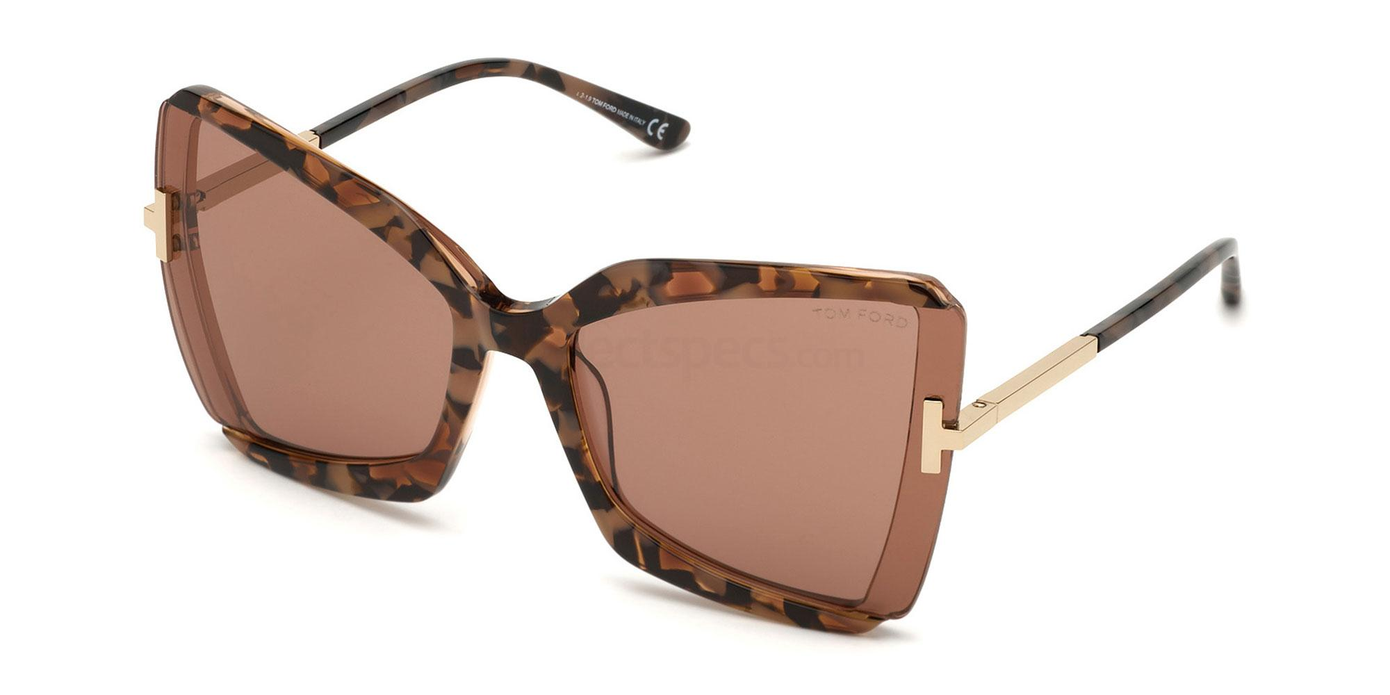 55Y FT0766 Sunglasses, Tom Ford