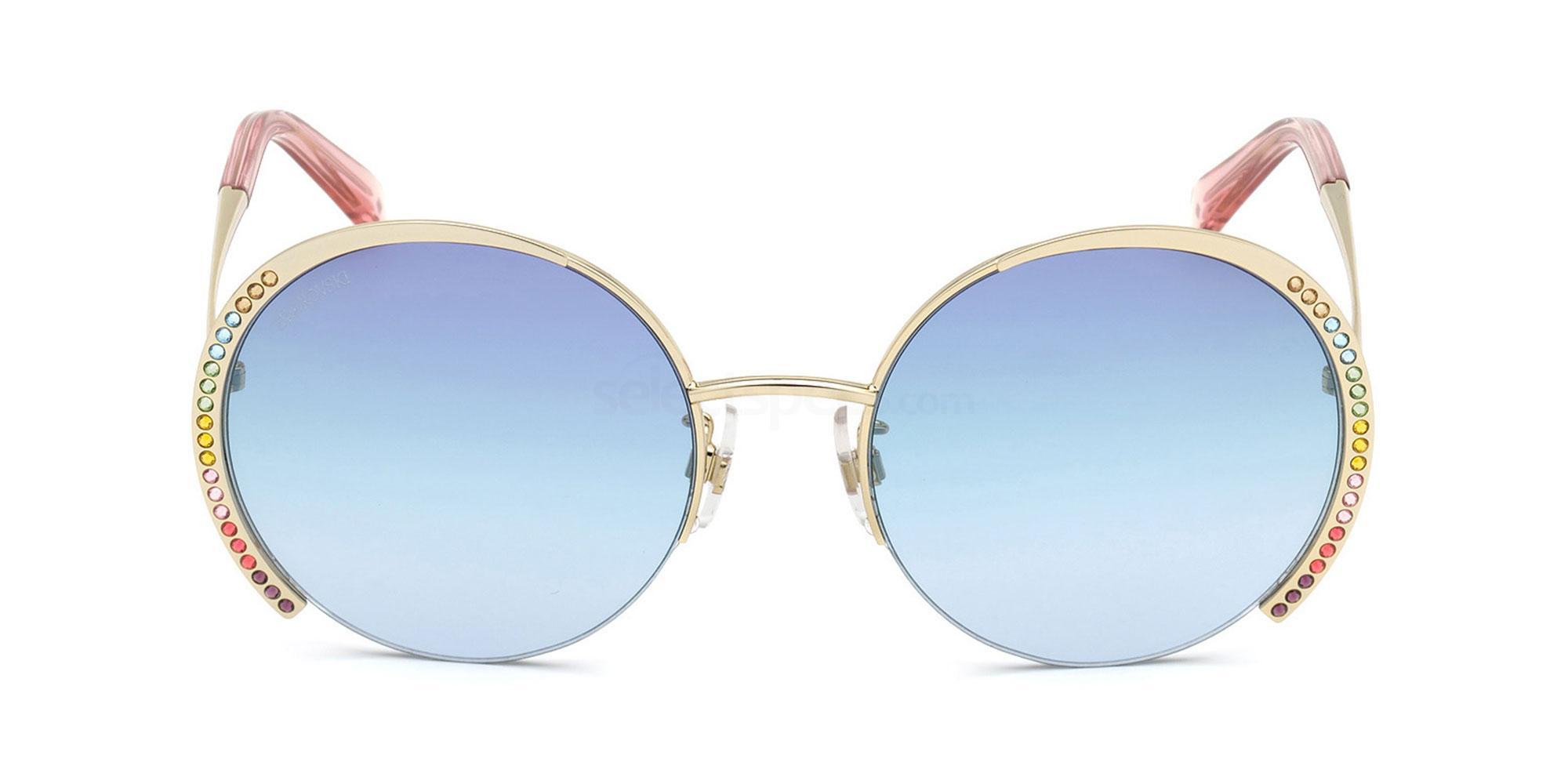 32W SK0280-H Sunglasses, Swarovski