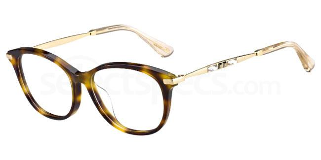 14B JC186/F Glasses, JIMMY CHOO