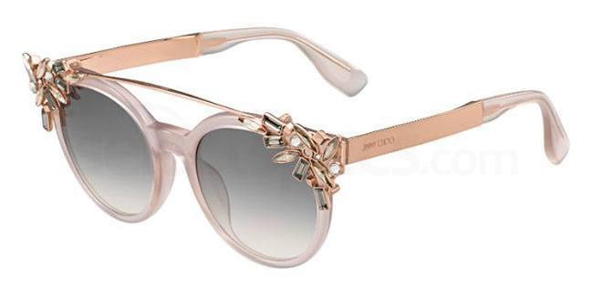 jimmy choo clip on crystal sunglasses
