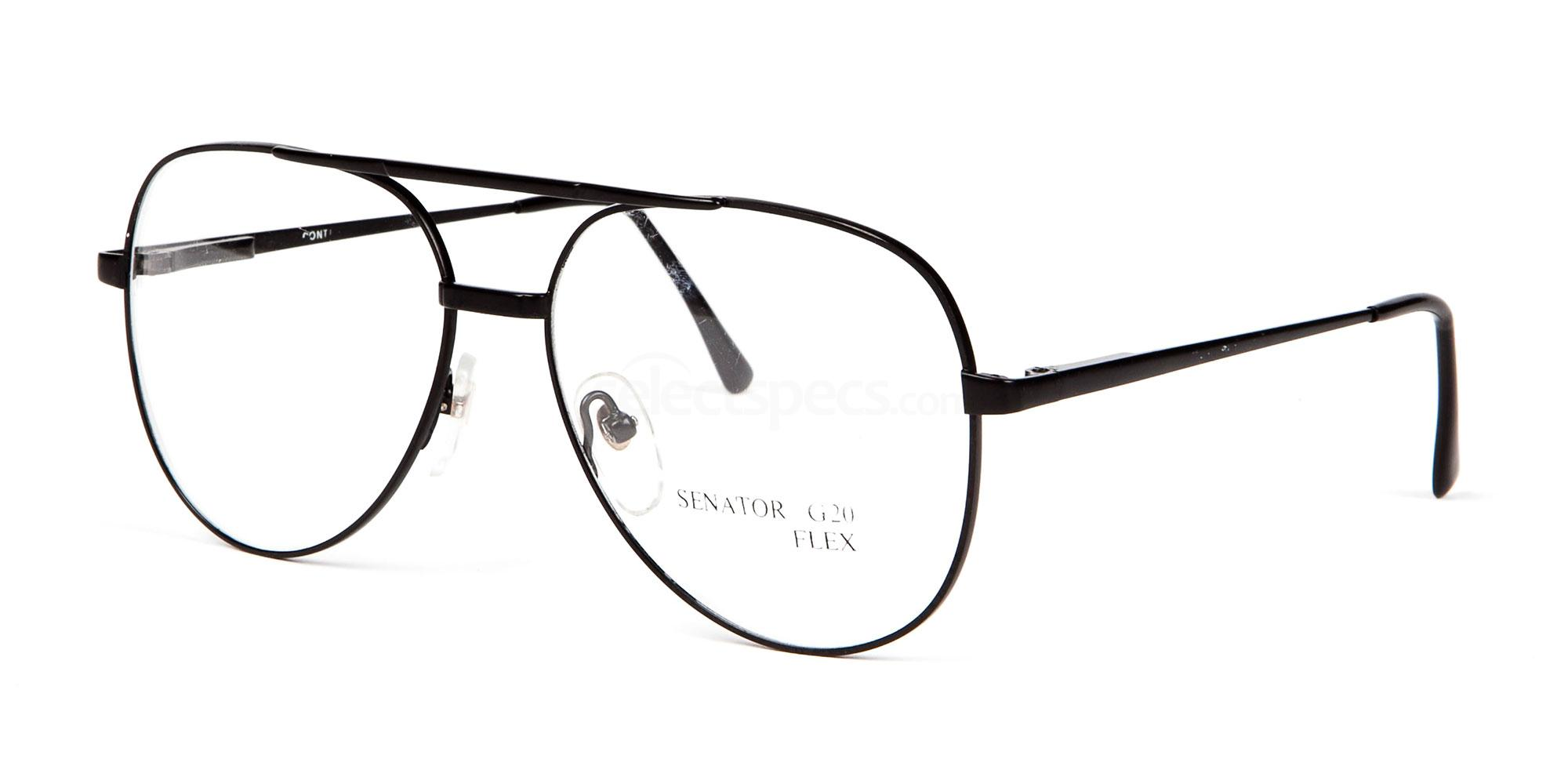 Black SENATOR G20 FLEX Glasses, Senator