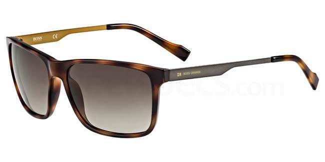 8XL (HA) BO 0163/S Sunglasses, Boss Orange