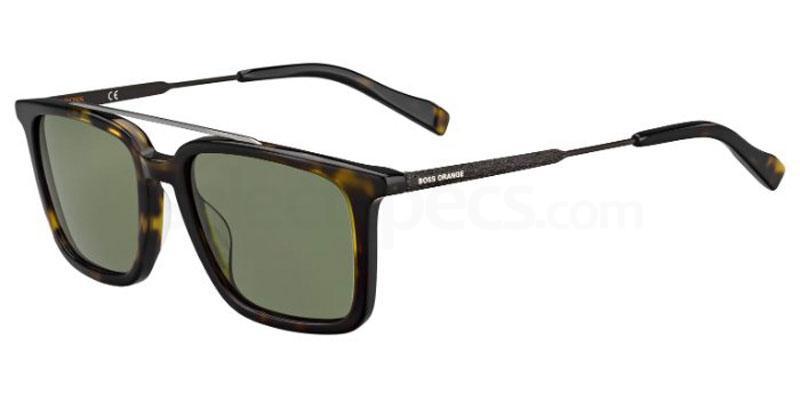 086 (QT) BO 0305/S Sunglasses, Boss Orange