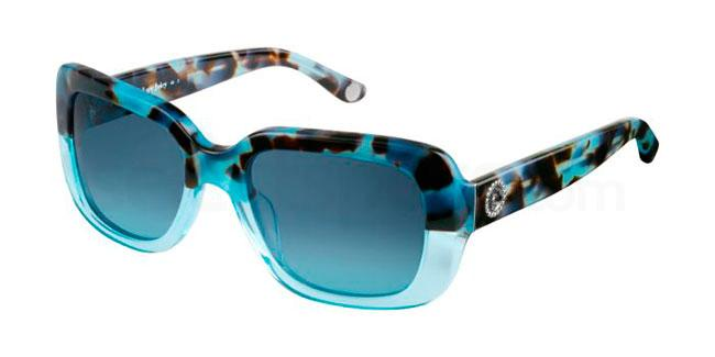 Blue squared framed juicy couture sunglasses
