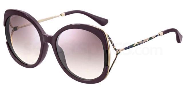 0T7 (NQ) LILA/S Sunglasses, JIMMY CHOO