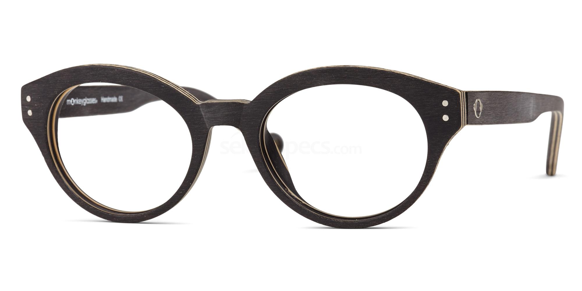 wooden glasses trend black plywood eyewear MonkeyGlasses JUNO