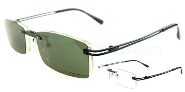 Black S9092 With Magnetic Polarized Sunglasses Clip-on Glasses, Vista
