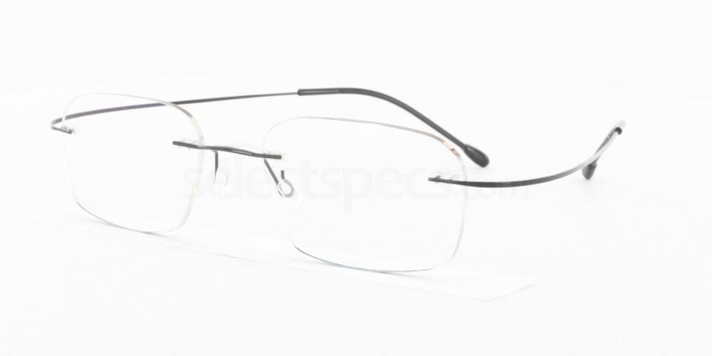 Black M205 Glasses, Vista