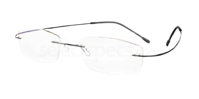 Black M208 Glasses, Vista
