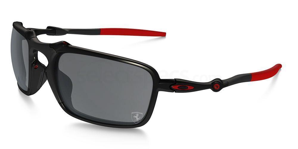 602007 OO6020 SCUDERIA FERRARI COLLECTION POLARIZED BADMAN Sunglasses, Oakley