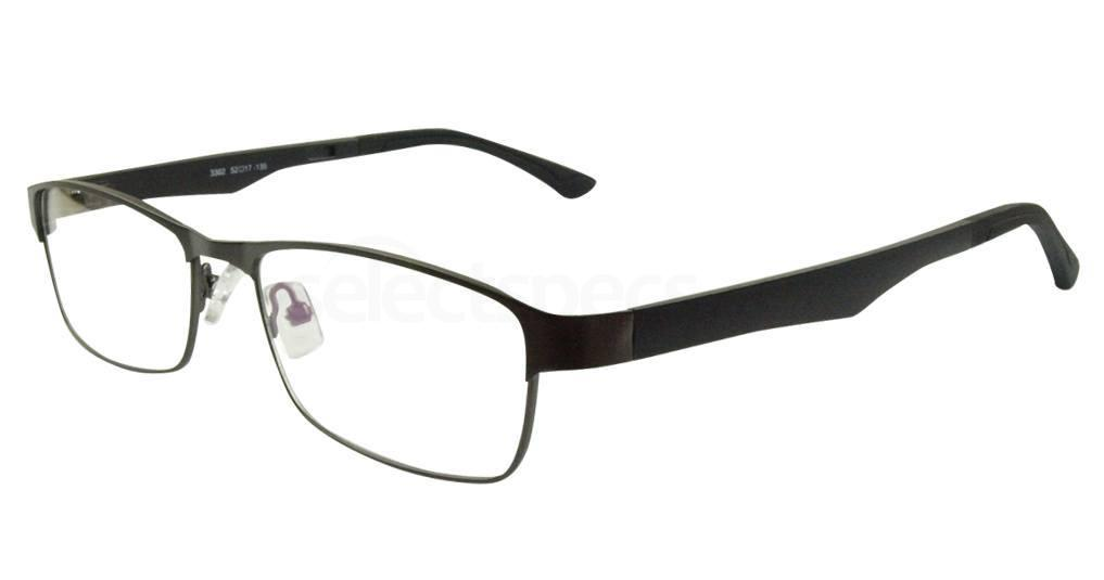Gunmetal 3302 Glasses, Hallmark