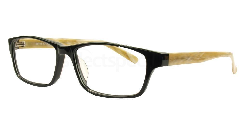 Black and Cream / Brown B81118 Glasses, Hallmark