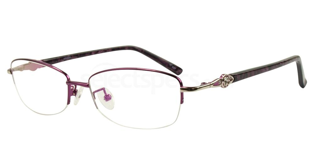 C07 8807 - SEMI-RIMLESS Glasses, Hallmark