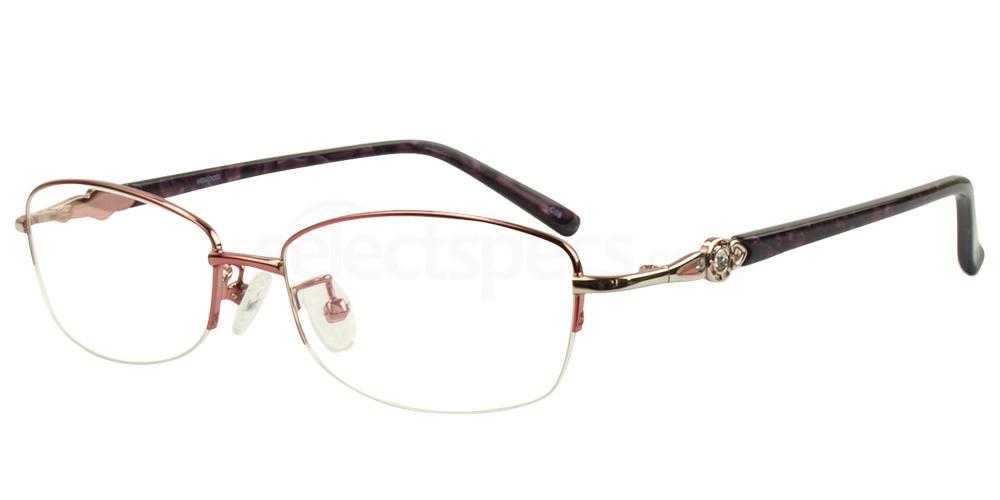 C08 8807 - SEMI-RIMLESS Glasses, Hallmark