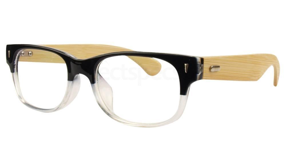 Black / Clear A6838 Glasses, Hallmark