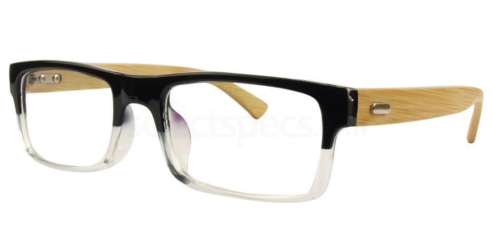 Black / Clear A6865 Glasses, Hallmark