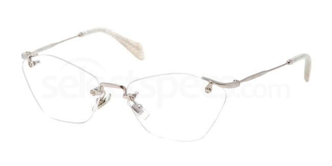 rimless glasses Miu Miu