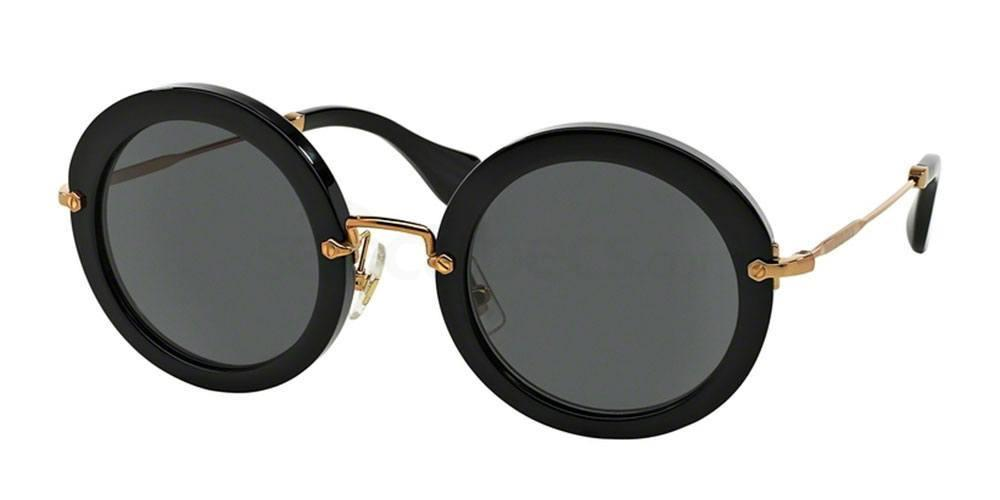 Oval black sunglasses